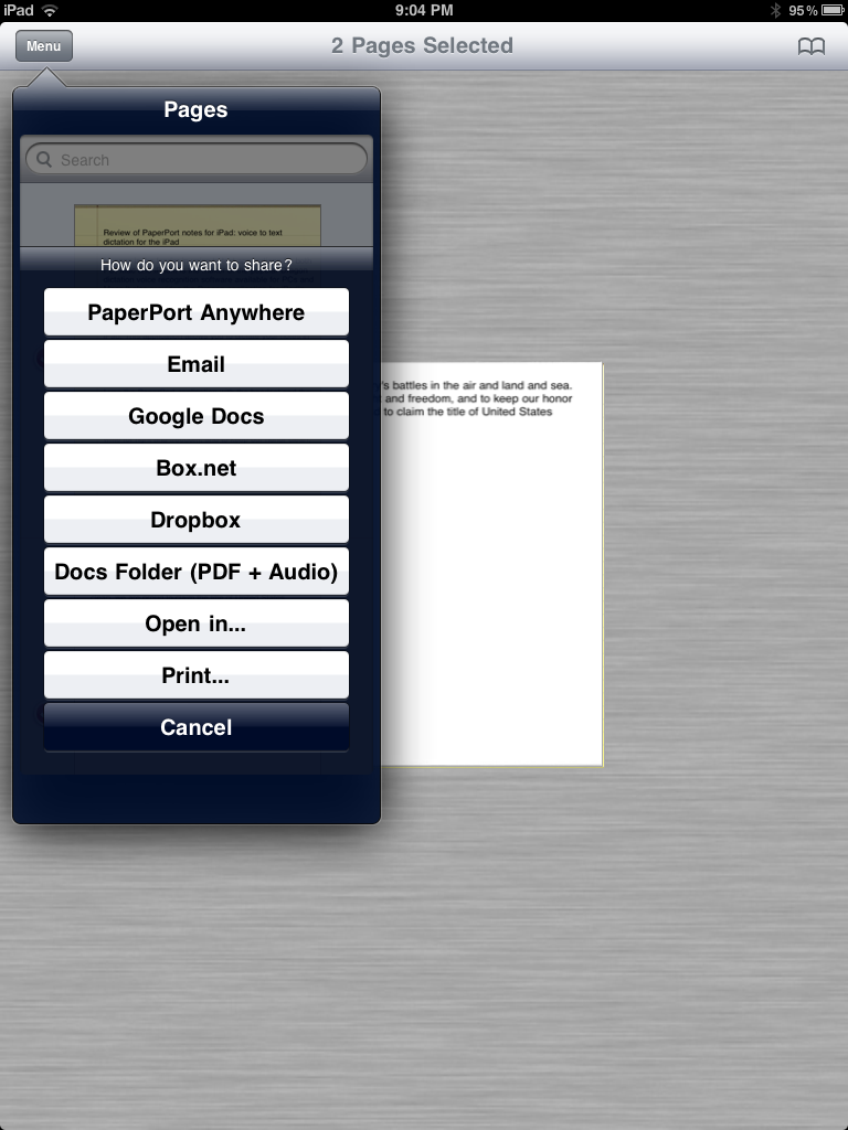 Review of PaperPort Notes: Voice to Text Dictation App for