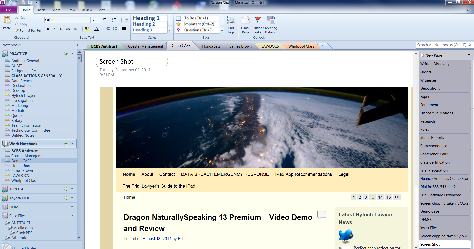 OneNote clipping demo